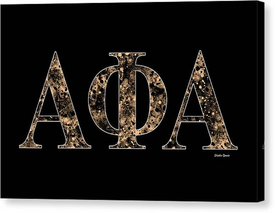 Alpha Phi Alpha Canvas Print - Alpha Phi Alpha - Black by Stephen Younts