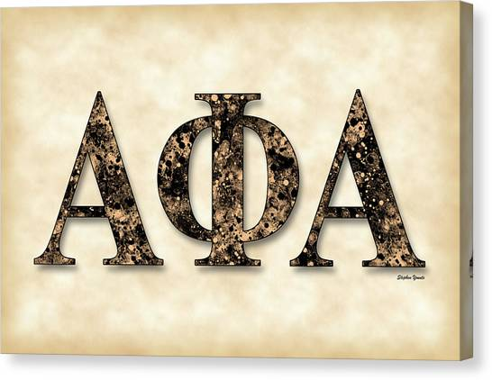 Alpha Phi Alpha Canvas Print - Alpha Phi Alpha - Parchment by Stephen Younts
