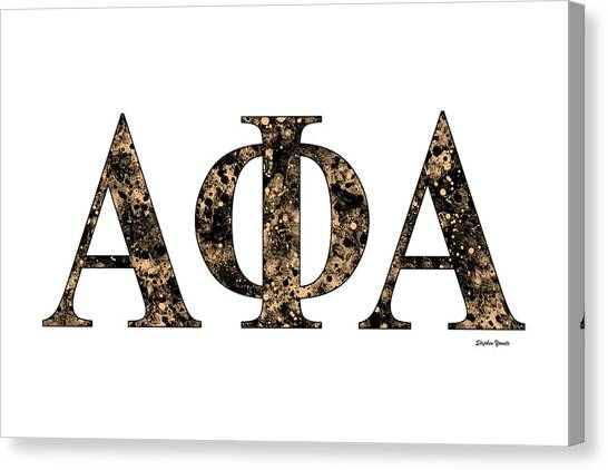 Alpha Phi Alpha Canvas Print - Alpha Phi Alpha - White by Stephen Younts