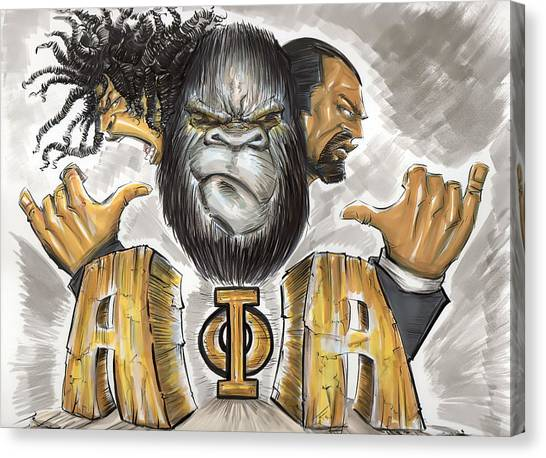 Alpha Phi Alpha Canvas Print - Alpha Phi Alpha Fraternity Inc by Tu-Kwon Thomas