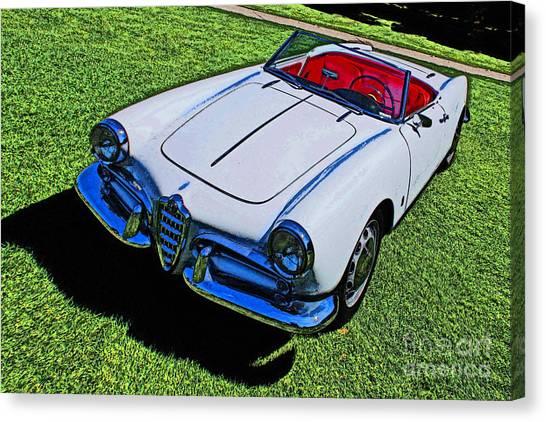 Alpha Romeo Amelia Island 2014 Canvas Print by David Caldevilla