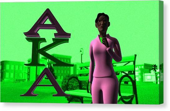 Alpha Kappa Alpha Canvas Print - Alpha Sister by James Bowman