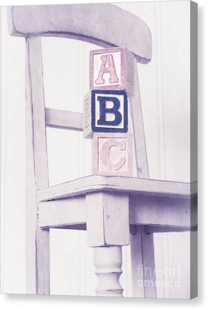 Chairs Canvas Print - Alphabet Blocks Chair by Edward Fielding