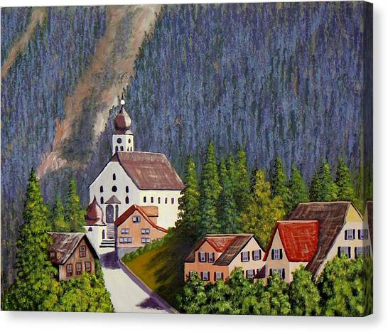 Alpine Church Canvas Print