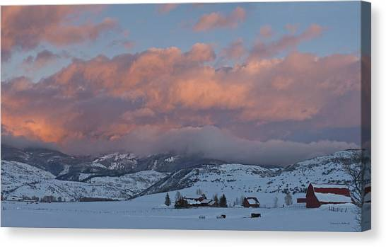 Alpine Glow Over Elk Mountain Meadows Canvas Print
