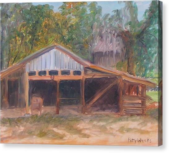 Alpine Groves Fruit Packing Shed Canvas Print
