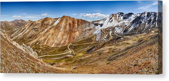 4x4 Canvas Print - Alpine Loop Scenic Byway Trail Passing by Panoramic Images