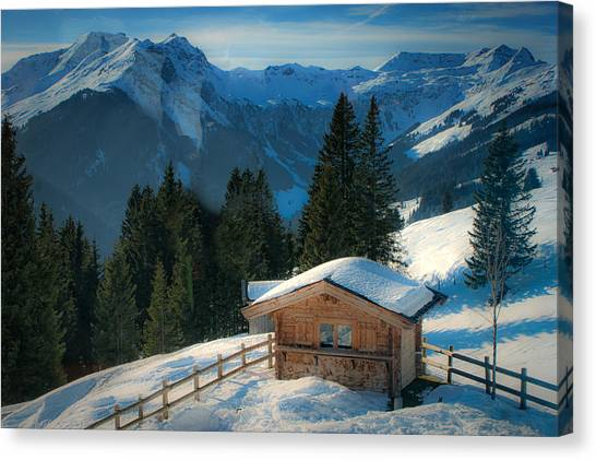 Alpine View Canvas Print