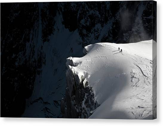 Alpinists Canvas Print by Tristan Shu