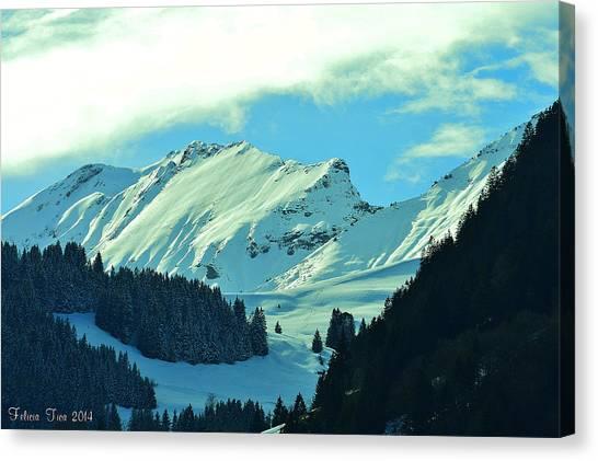 Alps Green Profile Canvas Print