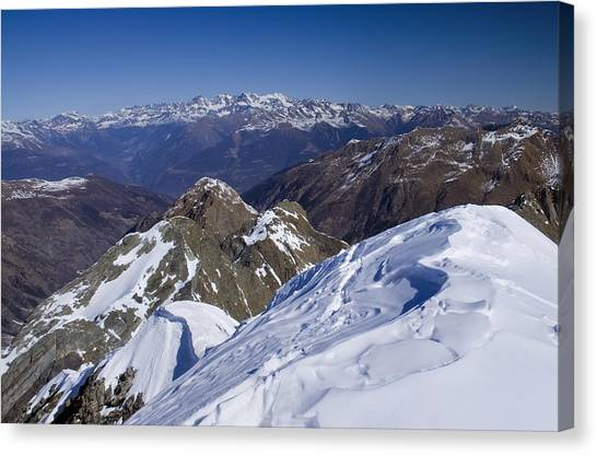 Alps Mountains View Canvas Print by Ioan Panaite