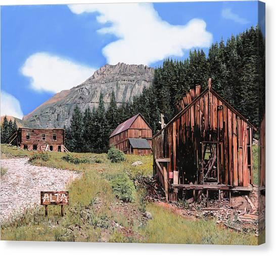 Cedar Canvas Print - Alta In Colorado by Guido Borelli
