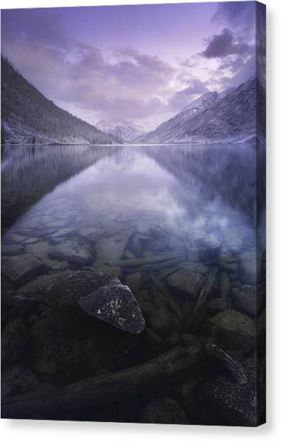 Calm Canvas Print - Altai Russia by Rostovskiy Anton
