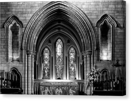 Altar At St Patricks Cathedral - Close Up Canvas Print
