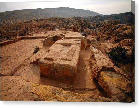 Jordan Canvas Print - Altar Of Sacrifice, Petra, Jordan by David Santiago Garcia