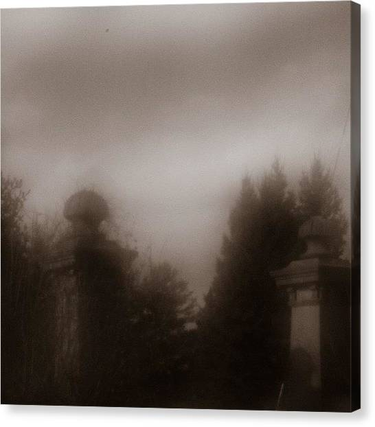 Sublime Canvas Print - Altered Reality #pinhole #pillars by Sharon Wilkinson