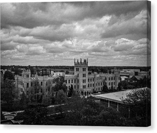 Northern Illinois University Canvas Print - Altgeld Hall At Northern Illinois University by Jason Borg