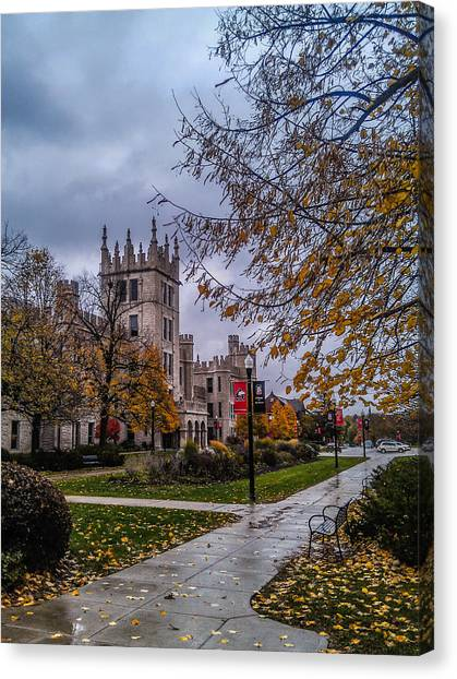 Northern Illinois University Canvas Print - Altgeld Hall In Fall by Jason Borg