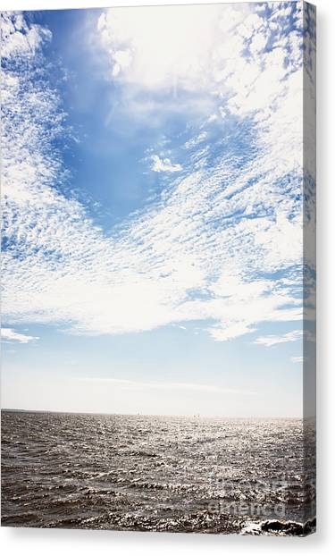Altocumulus At Sea Canvas Print