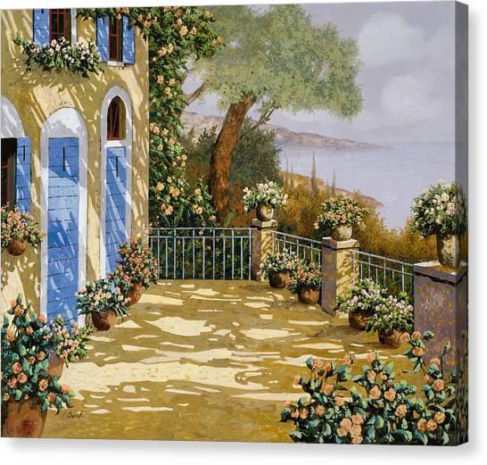 Blue Doors Canvas Print - Altre Porte Blu by Guido Borelli
