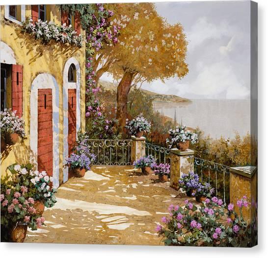 Blue Doors Canvas Print - Altre Porte Rosse by Guido Borelli