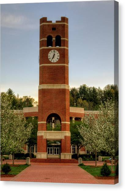 Alumni Clock Tower At Wcu Canvas Print