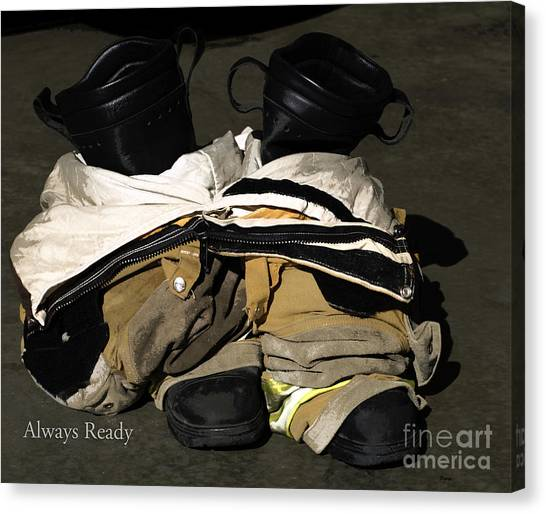 First Responders Canvas Print - Always Ready  by Steven Digman