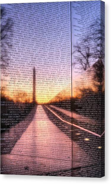 Vietnam War Canvas Print - Always Remembered  by JC Findley