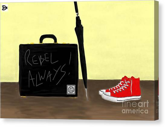 Always...rebel.... Canvas Print