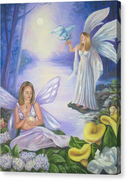 Canvas Print - Alyssa And Victoria by Anne Kushnick