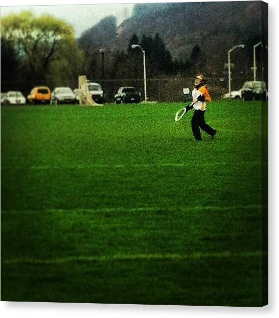 Keeper Canvas Print - @alyssaax22 #keeper #lax #goalie by Anna Hancock