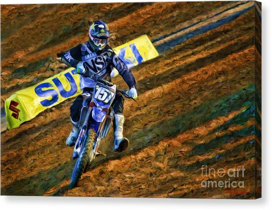Ama 250sx Supercross Aaron Plessinger Canvas Print