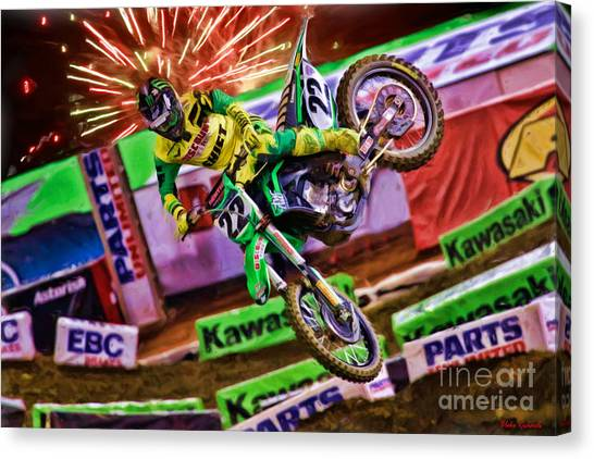 Ama 450sx Supercross Chad Reed Canvas Print