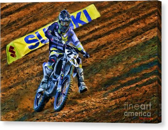 Ama 450sx Supercross Jason Anderson Canvas Print