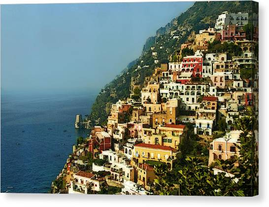 Positano Impression Canvas Print