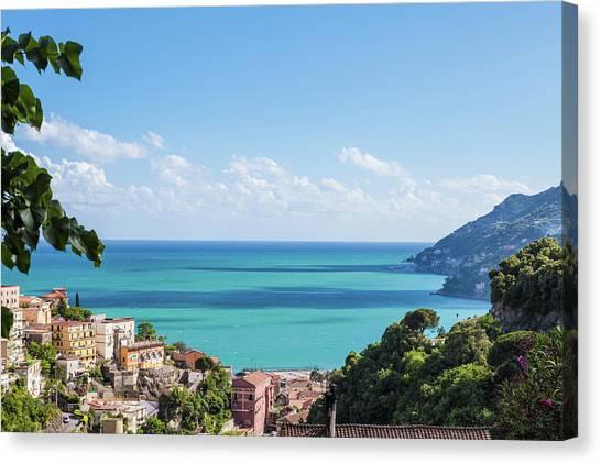Amalfi Coast Landscape Vietri Village Canvas Print