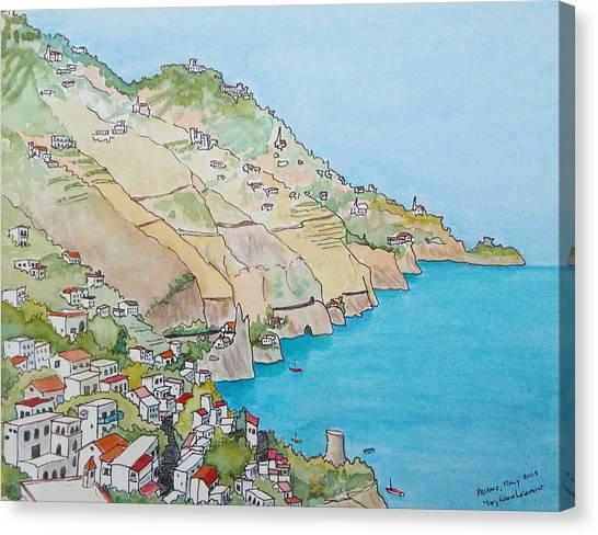 Amalfi Coast Praiano Italy Canvas Print