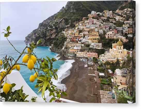 World Heritage Site Canvas Print - Amalfi Coast Town by George Oze