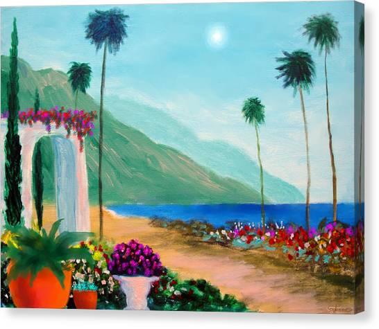 Amalfi Colors Canvas Print by Larry Cirigliano