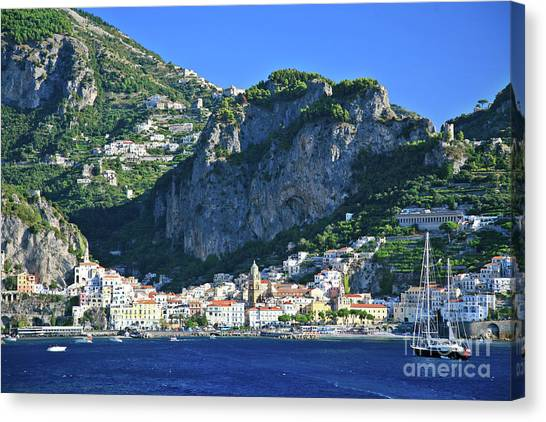Famous Amalfi Village Canvas Print