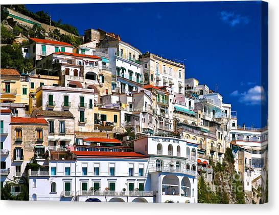 Amalfi Architecture Canvas Print