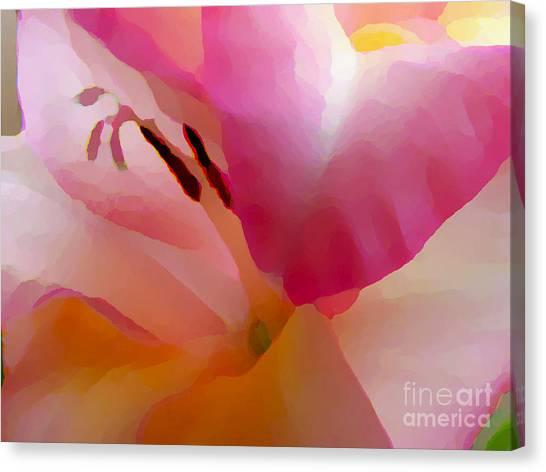 Gladiola Photo Painting Canvas Print