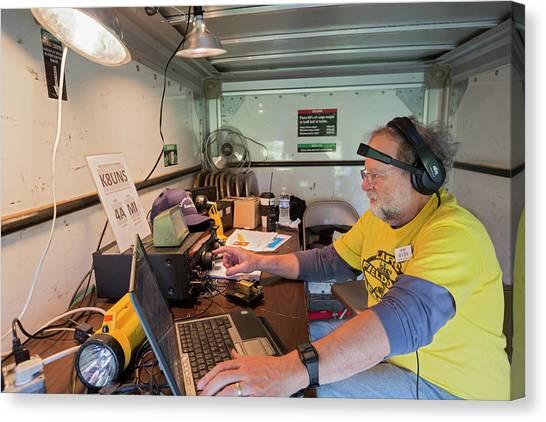 Ham Canvas Print - Amateur Radio Operator by Jim West