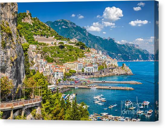 Amazing Amalfi Canvas Print