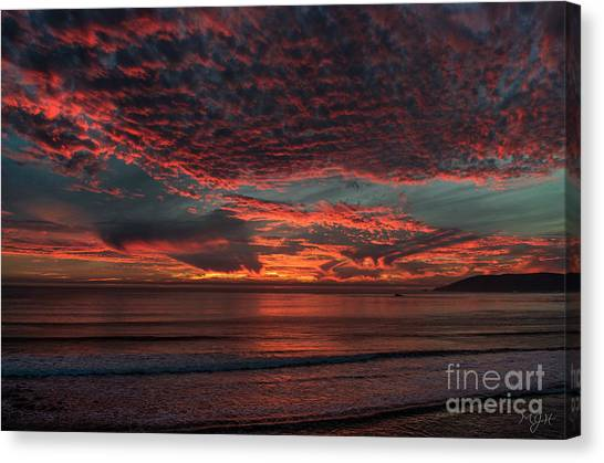 Amazing Blazing Sunset Canvas Print