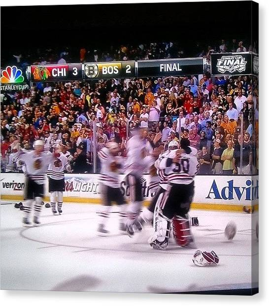 Hawks Canvas Print - Amazing! #hawks #blackhawks #chicago by Crystal LaTessa