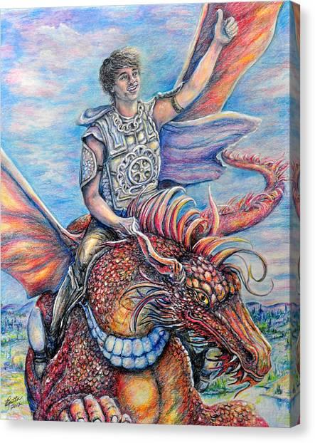 Amazing Rider Canvas Print