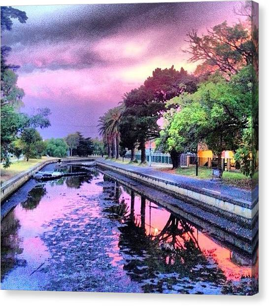Storms Canvas Print - #amazing #sunset #elwood #canal by Paul Jeans
