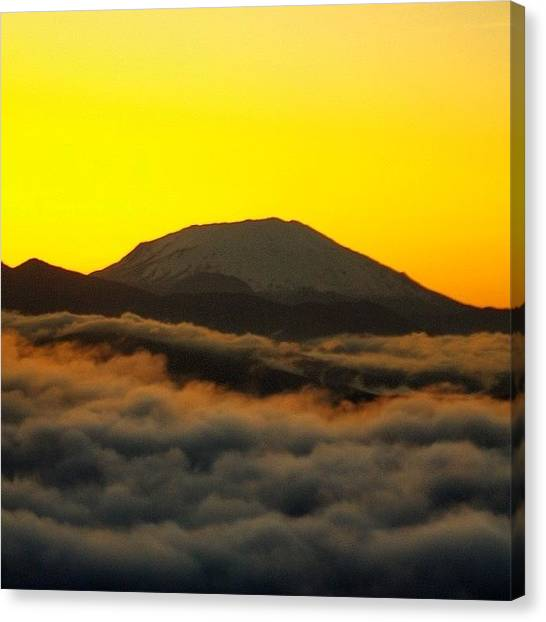 Helicopters Canvas Print - Amazing View This Morning, As We Flew by Mike Warner