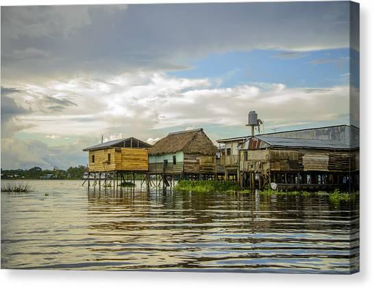 Amazon Beach House Canvas Print
